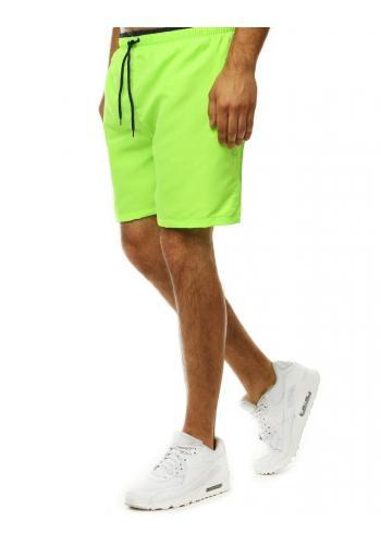 Zelené koupací šortky s kontrastním detailem pro pány