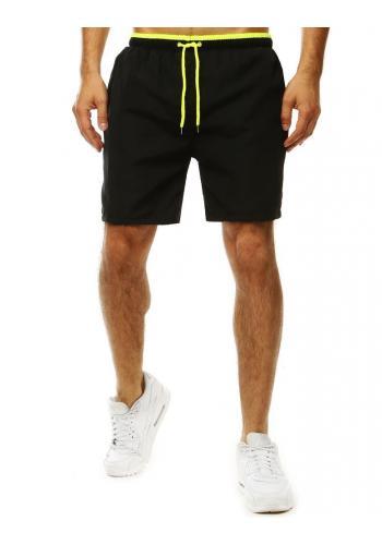 Pánské koupací šortky s kontrastním detailem v černé barvě