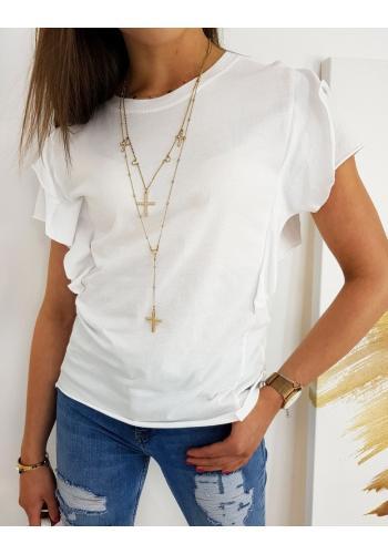 Bílá bavlněná halenka s ozdobnými rukávy pro dámy