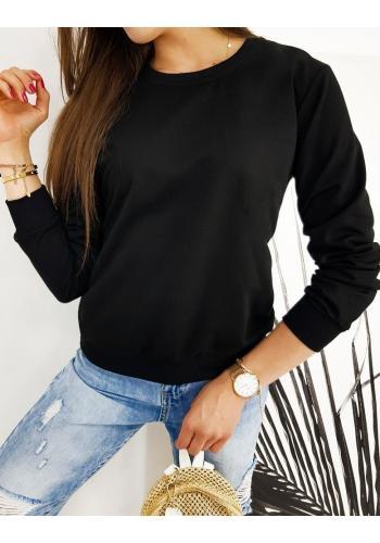 Klasické dámské mikiny černé barvy bez kapuce