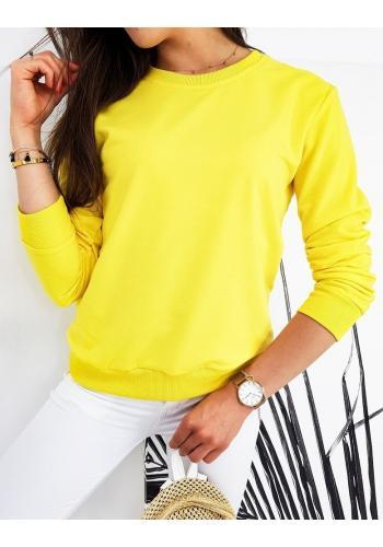 Žlutá klasická mikina bez kapuce pro dámy