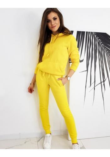 Tepláková dámská souprava žluté barvy
