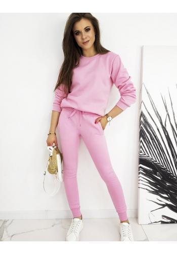 Tepláková dámská souprava růžové barvy
