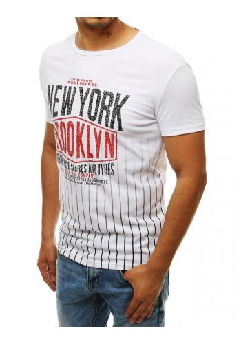 Sportovní pánské tričko bílé barvy s potiskem