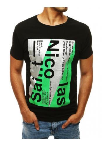 Pánské stylové trička s potiskem v černé barvě