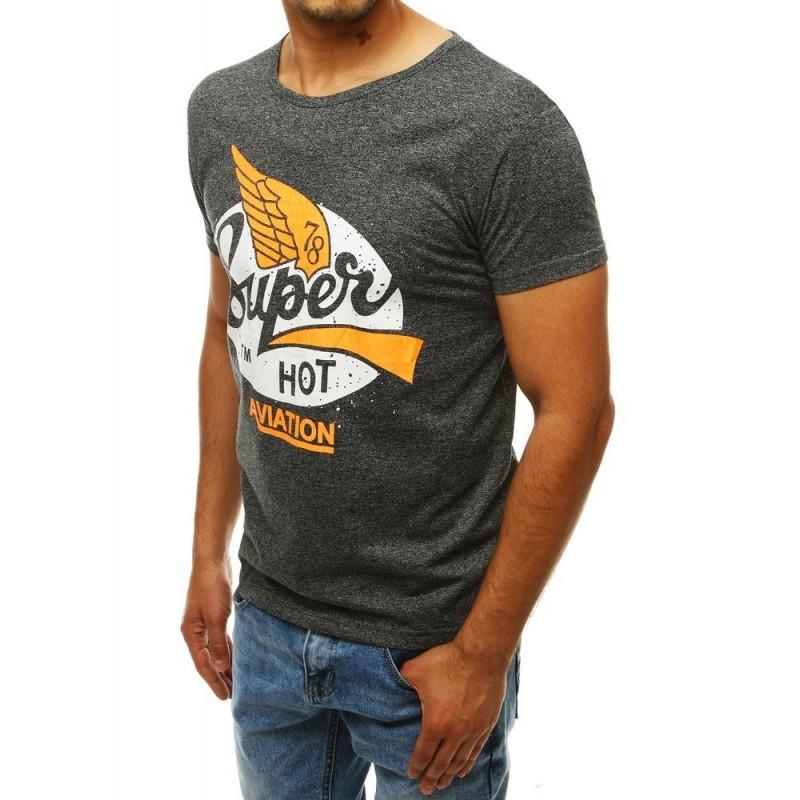 Módní pánské tričko černé barvy s potiskem