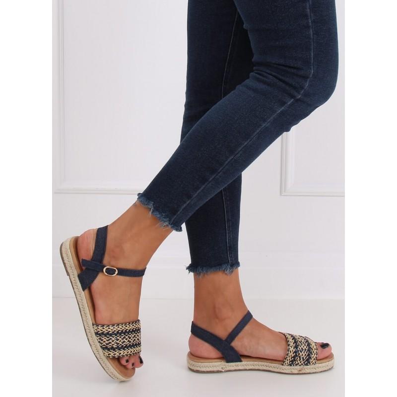Tmavě modré módní espadrilky pro dámy