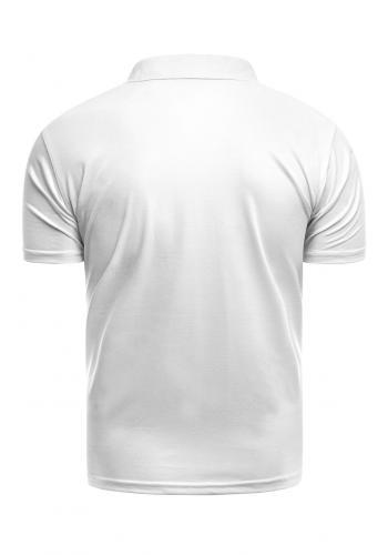 Bílá vypasovaná polokošile s třemi knoflíky pro pány