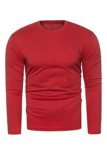 Červené klasické tričko s dlouhým rukávem pro pány