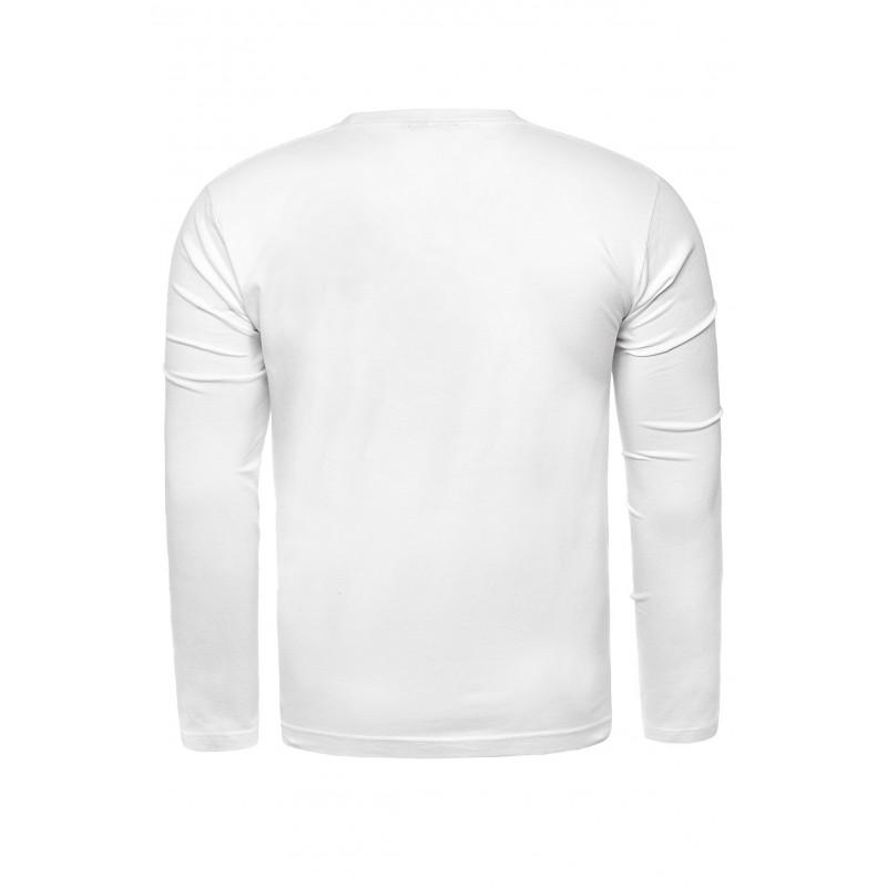 Klasické pánské tričko bílé barvy s dlouhým rukávem
