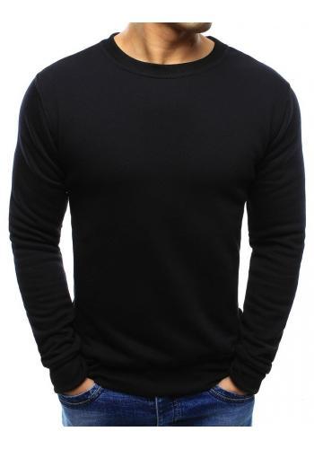 Hladká pánská mikina černé barvy bez kapuce ve výprodeji
