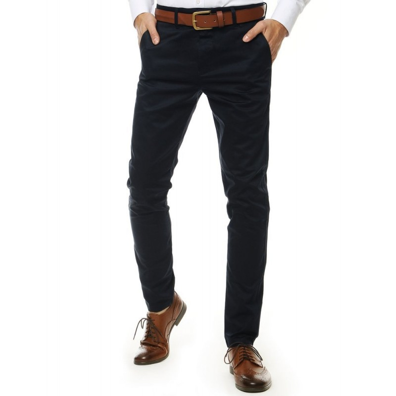 Pánské klasické kalhoty v tmavě modré barvě