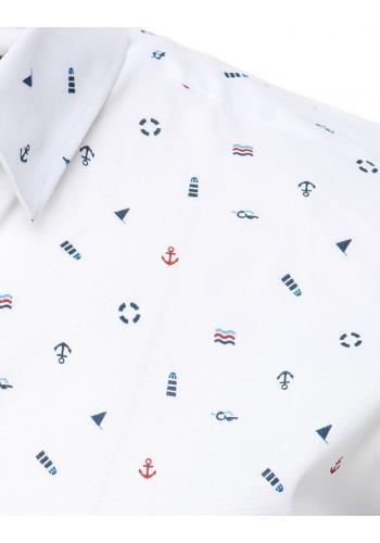 Bílá košile s námořnickým motivem pro pány