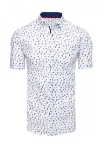 Pánská košile s motivem palem v bílé barvě