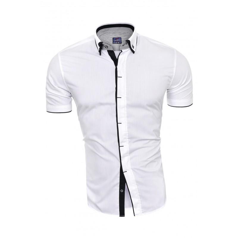 Pánská košile s krátkým rukávem v bílé barvě