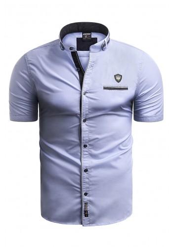 Pánské košile s krátkým rukávem v světle modré barvě