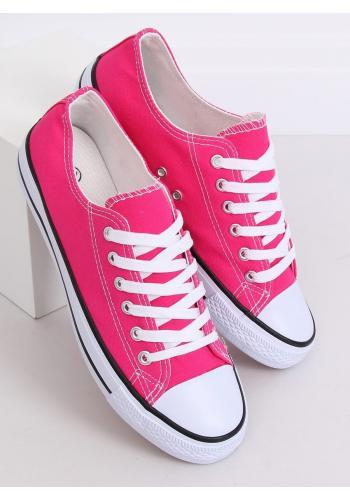Klasické dámské tenisky růžové barvy s gumovou podrážkou