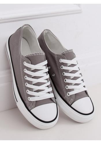 Klasické dámské tenisky šedé barvy s gumovou podrážkou