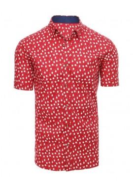 Červená košile se vzorem pro pány