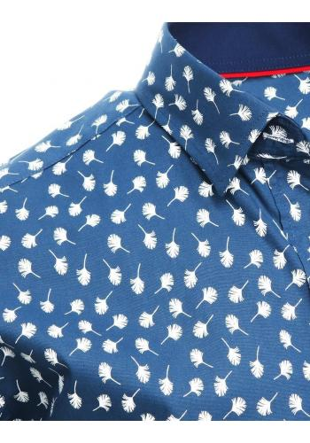 Pánské košile se vzorem v tmavě modré barvě
