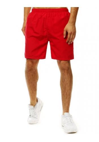 Měnící se pánské šortky červené barvy na koupání