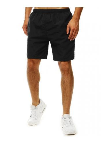 Měnící se pánské šortky černé barvy na koupání