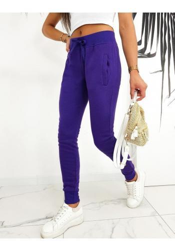 Klasické dámské tepláky fialové barvy