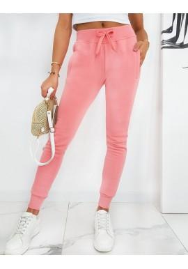 Klasické dámské tepláky růžové barvy