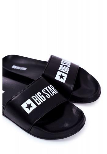 Letní pánské pantofle Big Star černé barvy