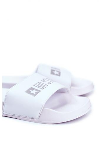 Bílé letní pantofle Big Star pro pány
