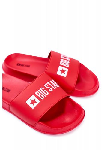 Letní pánské pantofle Big Star červené barvy