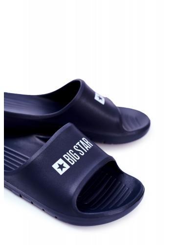 Gumové pánské pantofle Big Star tmavě modré barvy se vzduchovým polštářem