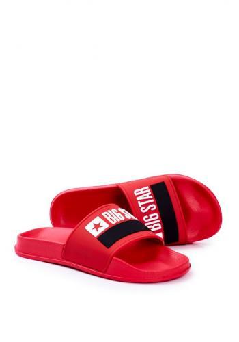 Červené klasické pantofle Big Star pro pány