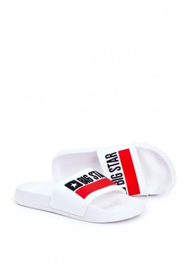 Klasické pánské pantofle Big Star bílé barvy