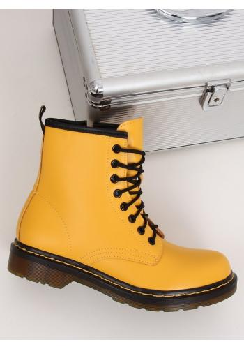 Dámské módní Workery ve žluté barvě