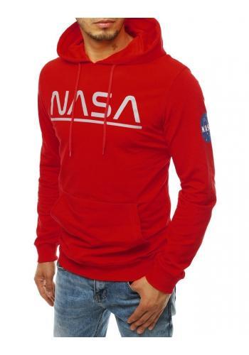 Pánská módní mikina s potiskem NASA v červené barvě