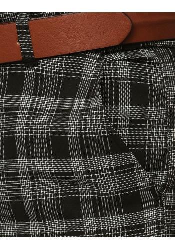 Černé vzorované Chinos kalhoty pro pány