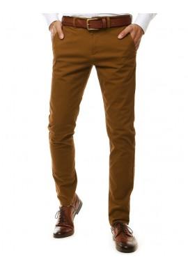 Pánské elegantní Chinos kalhoty v hnědé barvě