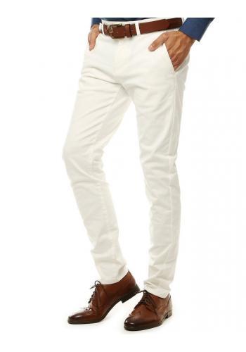 Elegantní pánské Chinos kalhoty bílé barvy