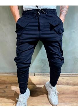 Tmavě modré módní Joggery pro pány