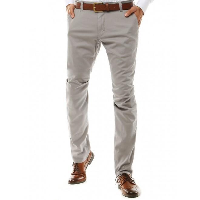 Klasické pánské Chinos kalhoty světle šedé barvy