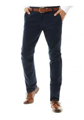 Tmavě modré klasické Chinos kalhoty pro pány