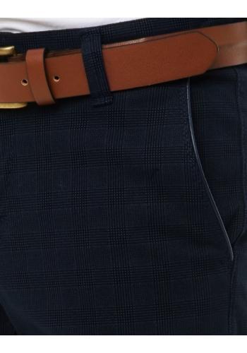 Klasické pánské Chinos kalhoty tmavě modré barvy se vzorem