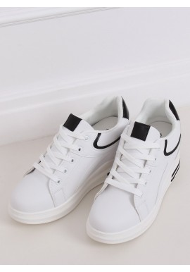 Bílo-černé klasické tenisky na skrytém podpatku pro dámy