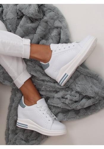 Dámské módní tenisky na skrytém podpatku v bílo-modré barvě