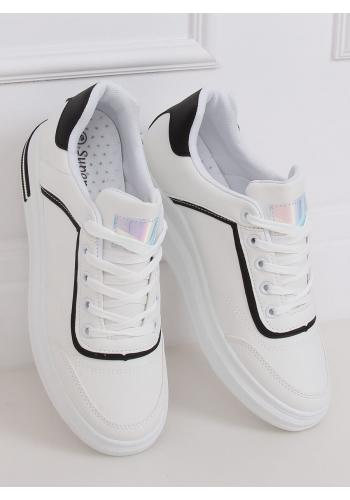 Dámské stylové tenisky na skrytém podpatku v bílo-černé barvě