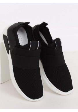 Nazouvací dámské tenisky černé barvy