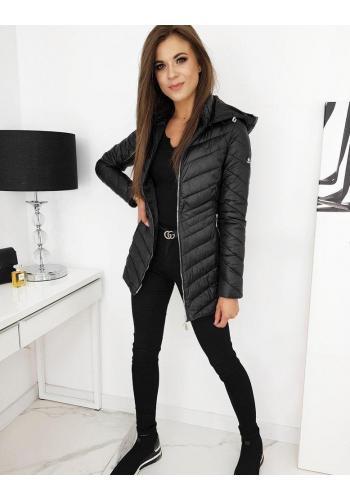 Černá prošívaná bunda s odepínací kapucí pro dámy