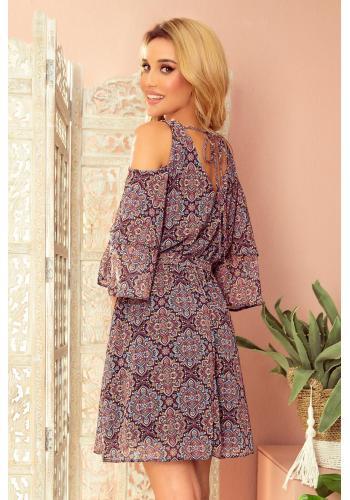 Dámské vzdušné šaty s marockým vzorem