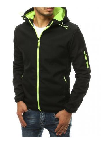 Černá softshellová bunda s kapucí pro pány
